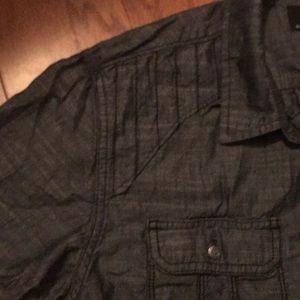Rock & Republic Shirts - EUC Rick & republic men's casual shirt, gray, m
